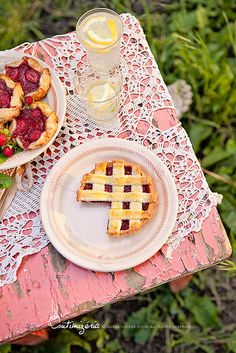 Strawberry-rhubarb-white wine jam summer pies by csokiparany, via Flickr
