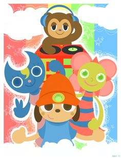 Parappa and Crew by Child-Of-Neglect.deviantart.com on @deviantART