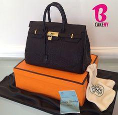 Handtasche von Hermes:  Bei dieser Torte mit Lederoptik ist jede Rille von...
