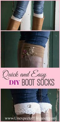 Handmade Gifts: No-Sew Boot Socks with Embellishments - Unexpected Elegance