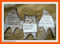 During our Stellaluna and bat research unit, students ask questions, and use…