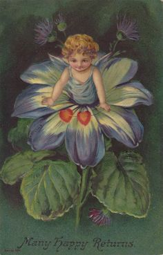 Wings of Whimsy: Cherub Flower - free for personal use