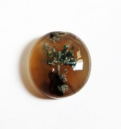 31 Ct Rare /& Beautiful Natural Dendritic Plume Agate With Colorful Trees And Flowers In Pure Gold Agate