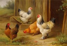 artnet Galleries: Pecking Order by Edgar Hunt from Haynes Fine Art of Broadway
