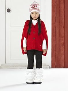 Gucci - Toddler's & Little Girl's Wool Hooded Poncho