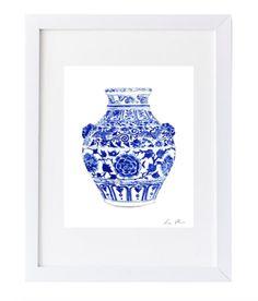 Design Darling home decor & monogrammed gifts — Ginger Jar Print II