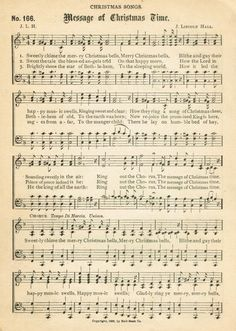 Free printable antique Christmas music page - O Come, All Ye Faithful - from Knick of Time Christmas Sheet Music, Christmas Paper, Christmas Bells, Christmas Images, Christmas Projects, Christmas Time, Christmas Sheets, Christmas Journal, Christmas Clipart