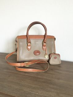 Genuine Dooney  amp  Bourke small all weather leather classic satchel  purse  with strap 8b48c2d254ac9