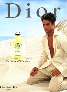 Dune Pour Homme by Christian Dior with David Fumero (1997).