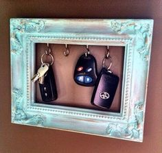 Be artistic! Frame your key holder! :) #Home #Garden #Musely #Tip