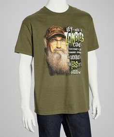 Take a look at this Military Green Zombies Tee - Men by Club Red on #zulily today!