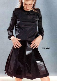 Angela Lindvall for Prada Fall 1998 Campaign - #fashion is a cycle #60sALineDress