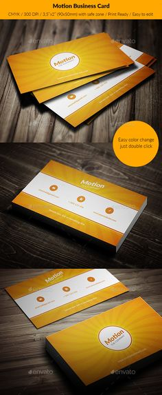 Motion Business Card - Creative Business Card Template PSD. Download here: http://graphicriver.net/item/motion-business-card/12314163?s_rank=1768&ref=yinkira