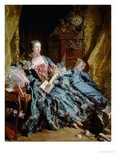 Madame Pompadour by Francois Boucher Madame Pompadour, French History, Art History, Rococo Fashion, Retro Mode, 18th Century Fashion, Woman Painting, Marie Antoinette, Fashion History