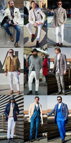 Pitti Uomo Street Style - White Trousers and Roll Necks
