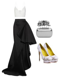 """""""NIGHT DATE"""" by volddecorltt on Polyvore featuring Lanvin, Narciso Rodriguez, Alexander McQueen and Charlotte Olympia"""