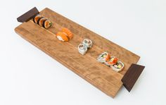 Solid wood sushi tray/centrepiece