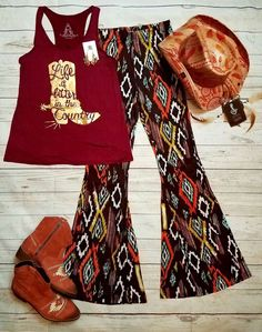 Cowgirl Gypsy AZTEC sOUTHWEST Bells Pants Lounge BELL BOTTOMS 70s fashion XS/S #selfiecouture #leggings