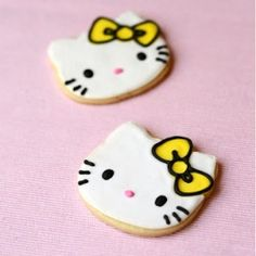 Hello Kitty sugar cookies decorated with royal icing