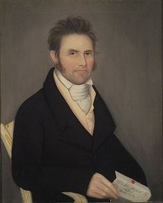 """""""Col. Nathan Beckwith"""", American c. 1818, by Ammi Phillips (1788-1865)"""