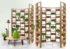 Diseño de Interiores Green | Green wall, un sistema modular de madera para plantas naturales, diseño de Mr. Atsushi Koike para Deesawat