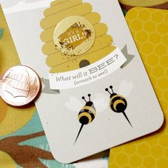 Beehive Gender Reveal Scratch Cards by Beau-coup