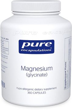 Pure Encapsulations Magnesium Glycinate. Get blood tested first if possible. May be avail on Amazon. 320mg daily for women. gm John 3:16 http://draxe.com/magnesium-supplements/