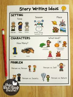 Story Writing Ideas Chart - This Reading Mama