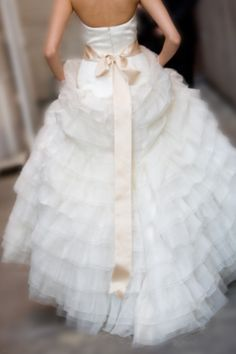 Gorgeous Ruffle Gown ... You either have to get married/get your vows renewed every year or go to the Vienna Balls every Jan. to wear all the beautiful white gowns there are/you can dream about