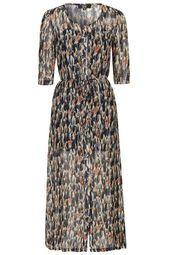 ** Printed Midi Dress by Goldie