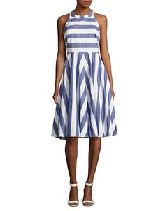 Women | Casual & Sundresses  | Halter Striped Fit and Flare Dress | Hudson's Bay