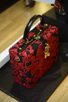 Dolce & Gabbana Woman Runway Backstage Photo Gallery – Spring Summer 2015  handbag @koket red head to toe