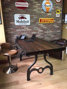 9258adaab367c 2 Massive Factory Farm Table Leg Base Cast Iron Industrial Antique Farmhouse coffeetable   industrial