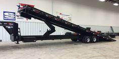 Container Tilt Trailer w/ Scissor Lift Tilt Trailer, Car Hauler Trailer, Work Trailer, Trailer Diy, Trailer Build, Toy Hauler, Sterling Trucks, Custom Flatbed, Diesel Pickup Trucks