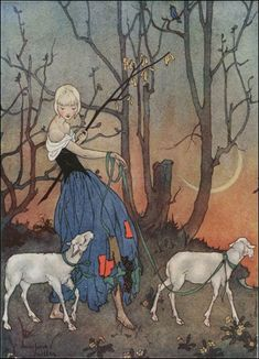 Marjorie Miller: Miller was an illustrator of children's stories and periodicals   around 1924-1935. The elongated figure and composition   demonstrate a Japanese influence.