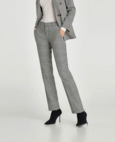 TERNEDE BUKSER STRAIGHT FIT fra Zara