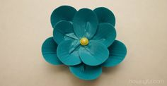 Duct Tape Flower - Tutorial and pdf