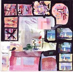 """Barbara Cooney Group of color swatches for """"Miss Rumphius"""", 1982"""