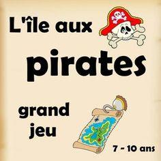L'île aux Pirates est un grand jeu à imprimer prêt à l'emploi. Des bateaux de pirates se sont rassemblés dans une petite île des Caraïbes pour participer aux Jeux annuels des pirates.