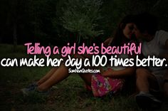 """Tell Her She's Beautiful Quotes Amusing Dont Forget To Tell Your Girl Is """" She Is Beautiful """"sumnan Quotes"""