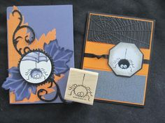 Stampin Up  Wacky Fuzzy Spider w/ Fangs & Booglie Eyes Halloween  Rubber Stamp