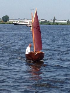 """Ian Oughtred designed 10 feet Puffin sailing dinghy """"Loreley"""". Year 2013."""