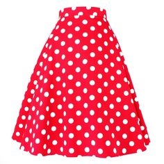 Inked Boutique - Polka Dots Circle Skirt Red Retro Vintage Rockabilly Swing http://www.inkedboutique.com
