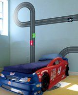 2005 Ford GT Through The Wall Mural   Decorating Kids Cars Bedroom Race Car  | Matthewu0027s Room | Pinterest | Car Bedroom, Kids Cars And Wall Murals