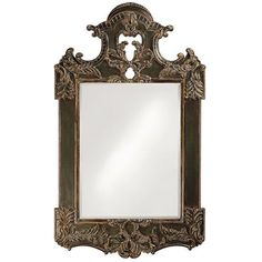 Park Lane Antique Brown Rectangle Mirror Howard Elliott Collection Rectangle Mirrors Home