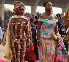 Ghana Fashion, Lifestyle, Art & Culture On Display At The Inaugural Ceremony Of The President & Vice of The Republic. African Lace, African Wear, African Attire, African Fabric, African Style, African Design, African Dresses For Women, African Fashion Dresses, Ghana Fashion