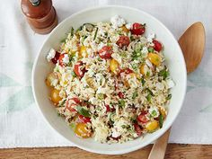Gina's Orzo Salad recipe from Patrick and Gina Neely via Food Network