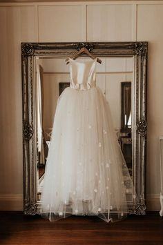 How stunning is this classic ballgown? With a princess, a-line silhouette, light tulle, satin finish, and embellished embroidered details, it's the perfect combination for a modern wedding bridal gown dress! So much inspiration! Classic Wedding Gowns, Wedding Dresses, Bridal Gowns, Designer Dresses, One Shoulder Wedding Dress, Ball Gowns, Tulle, Flower Girl Dresses, Gown Dress