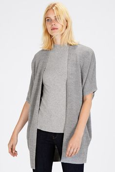 Jumpers & Cardigans | Grey STITCH LONG COCOON CARDIGAN | Warehouse