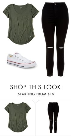 """OTD"" by kendraallen22 ❤ liked on Polyvore featuring Hollister Co., New Look and Converse"